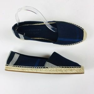 Burberry Housecheck Hodgeson Flats Navy Blue 40.5